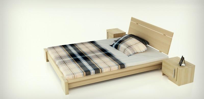 łóżko USAGI lite drewno