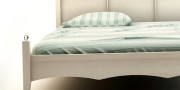 łóżko AGIE - romantyczna sypialnia