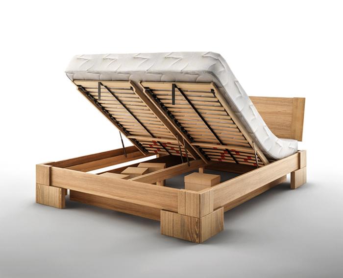 łóżko z pojemnikiem na pościel VERON MBox DA