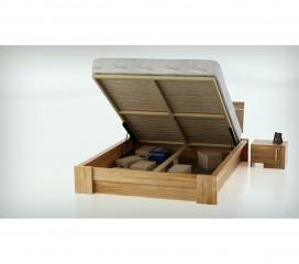 Łóżko z pojemnikiem na pościel USAGI  MBox