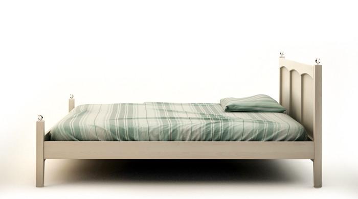białe łóżko drewniane AGIE