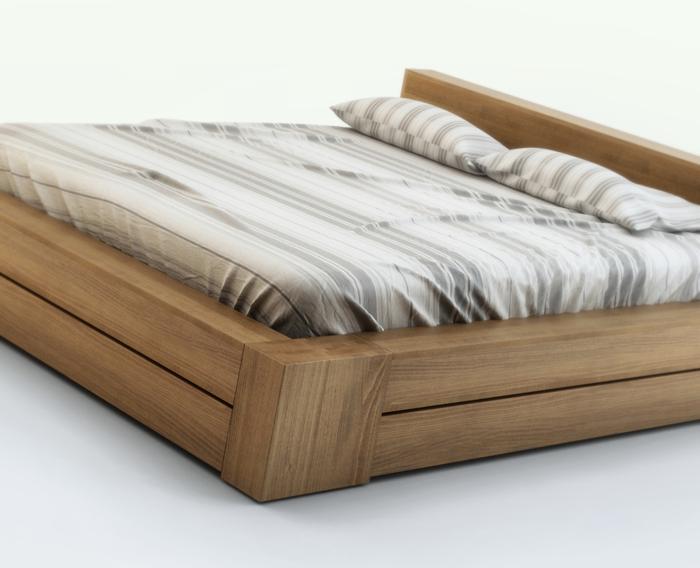 łóżka Drewniane łóżko 014 Arbora