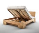 łóżka drewniane z pojemnikiem na pościel VERON MBox DA