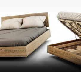 Lewitujące łóżko z pojemnikiem na pościel BALDUCZI MBox