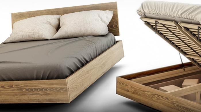 łóżko lewitujące z pojemnikiem Arbora