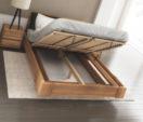 łóżko z pojemnikiem na pościel BEN_LIFT DA