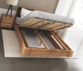 Łóżko z pojemnikiem na pościel BEN_LIFT