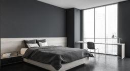 Łóżko drewniane do sypialni w stylu nowojorskim