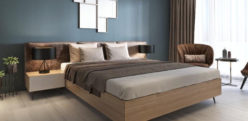 Łóżka drewniane z pojemnikiem